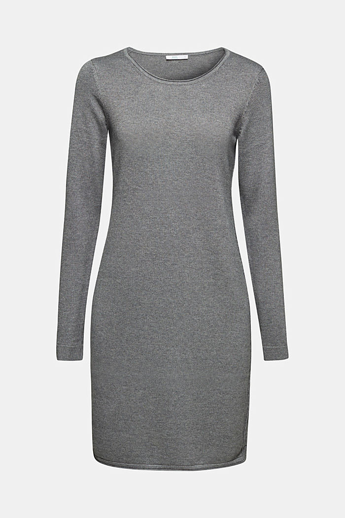 Knitted dress in a basic look, GUNMETAL, detail image number 5