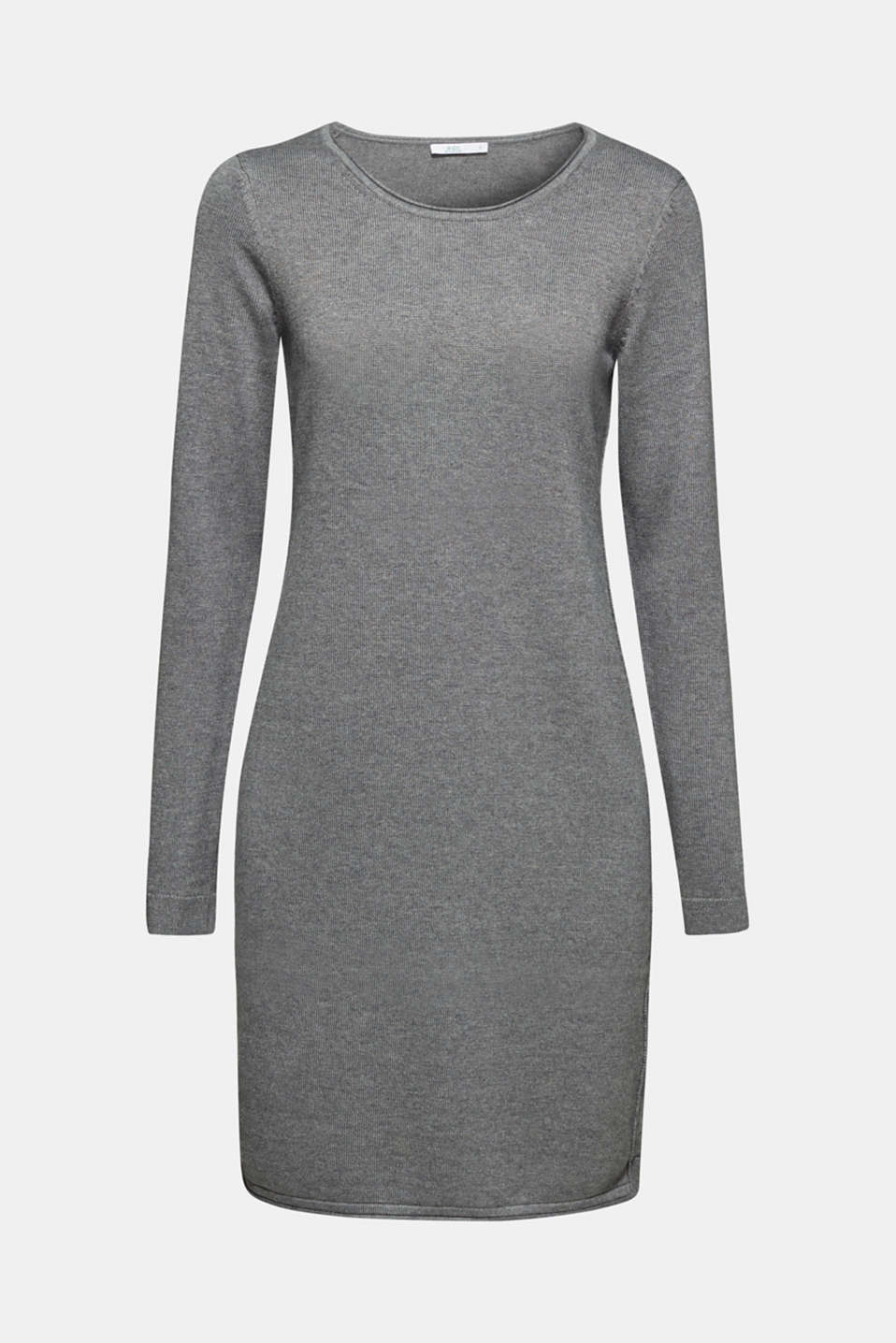 Knitted dress in a basic look, GUNMETAL 5, detail image number 5