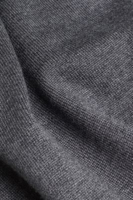 Knitted dress in a basic look, DARK GREY 5, detail