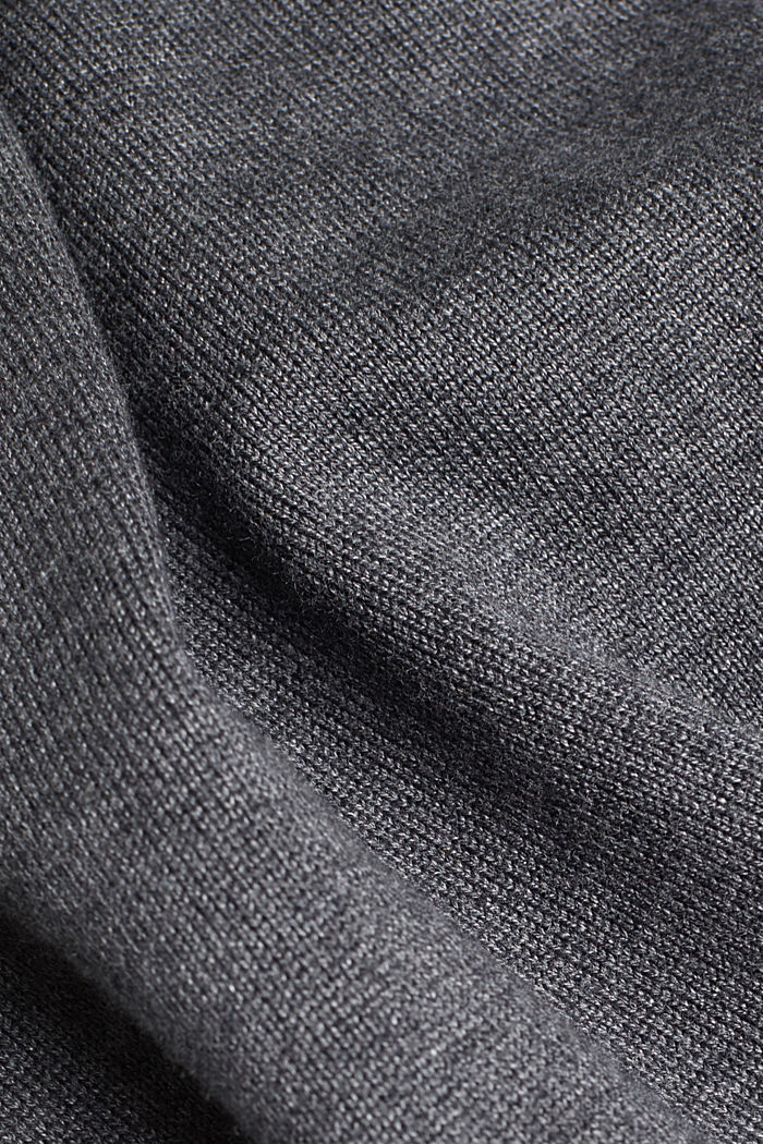 Knitted dress in a basic look, DARK GREY, detail image number 4