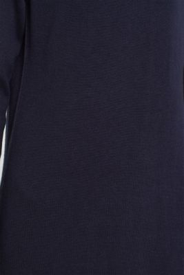 Knitted dress in a basic look, NAVY, detail