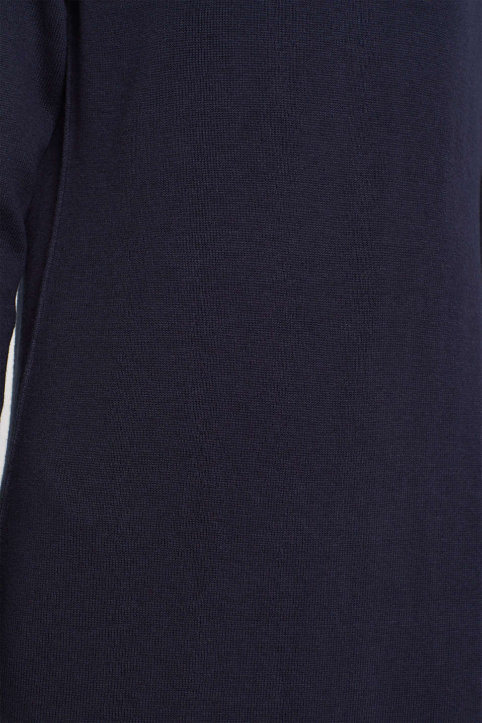 Knitted dress in a basic look, NAVY, detail image number 5
