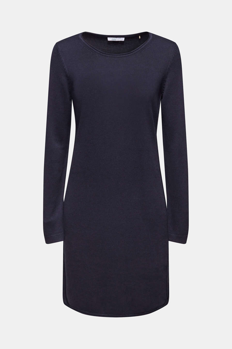 Knitted dress in a basic look, NAVY, detail image number 8