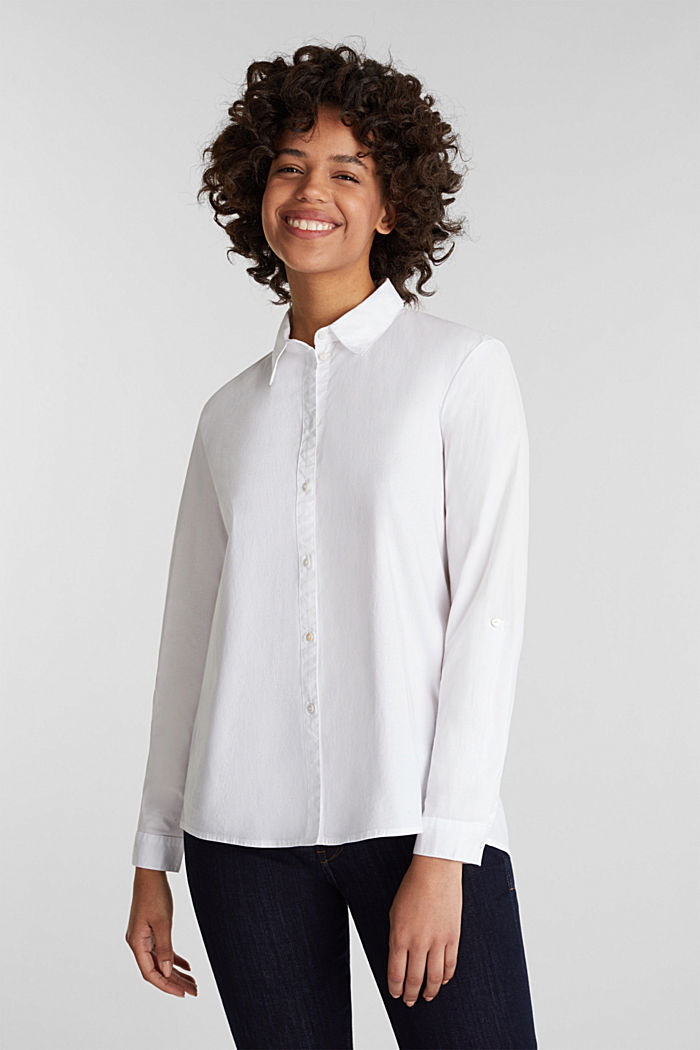 Shirt blouse with stretch