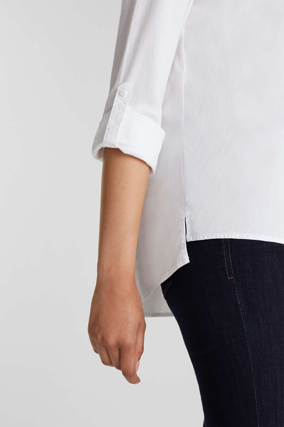 Shirt blouse with stretch, WHITE, detail image number 2