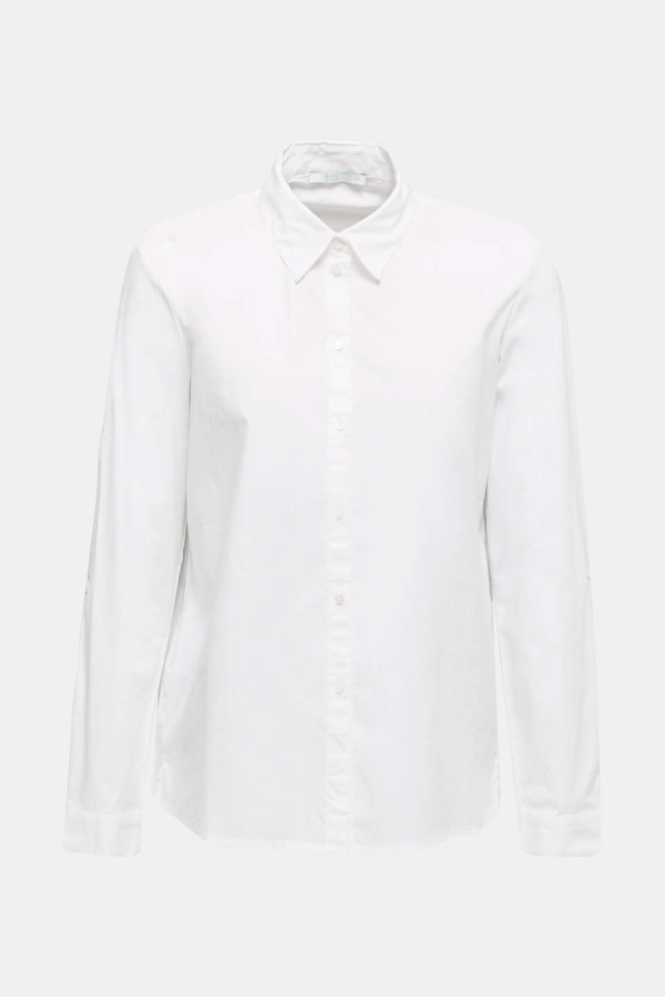 Shirt blouse with stretch, WHITE, detail image number 5