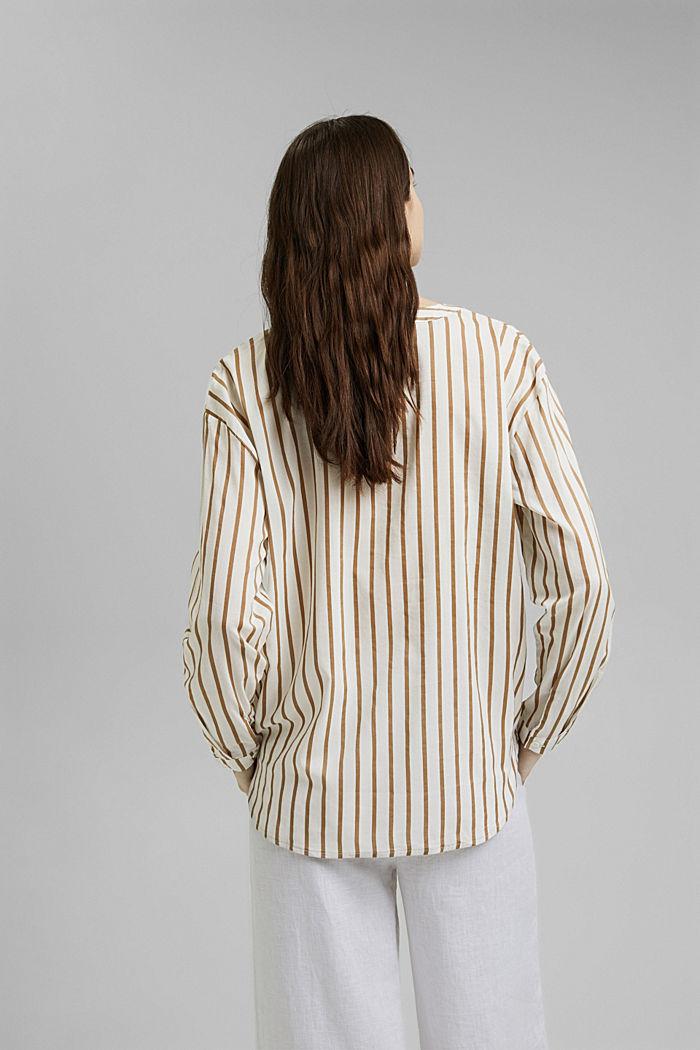 Henley-Bluse mit Streifen, LIGHT KHAKI, detail image number 3