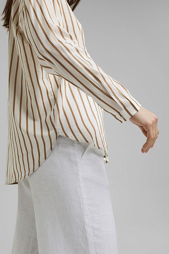 Henley-Bluse mit Streifen, LIGHT KHAKI, detail image number 2
