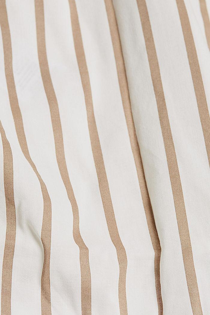 Henley-Bluse mit Streifen, LIGHT KHAKI, detail image number 4