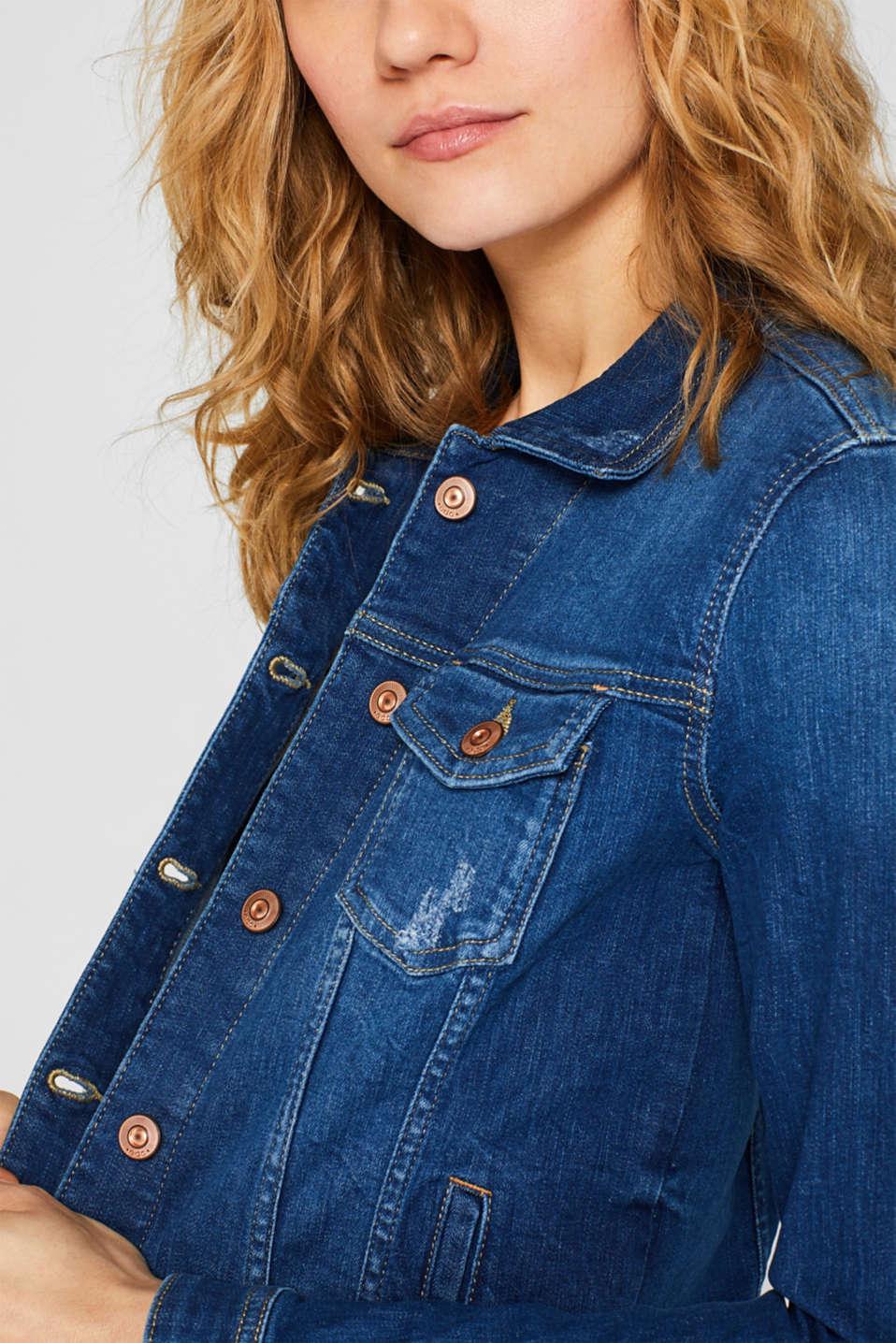 Jackets indoor denim, BLUE MEDIUM WASH, detail image number 2