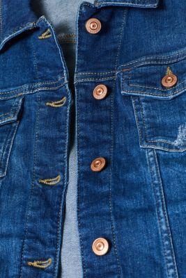 Stretch denim jacket with a vintage finish