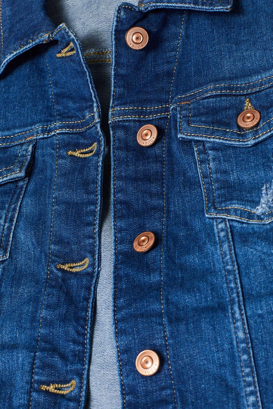 Jackets indoor denim, BLUE MEDIUM WASH, detail image number 4