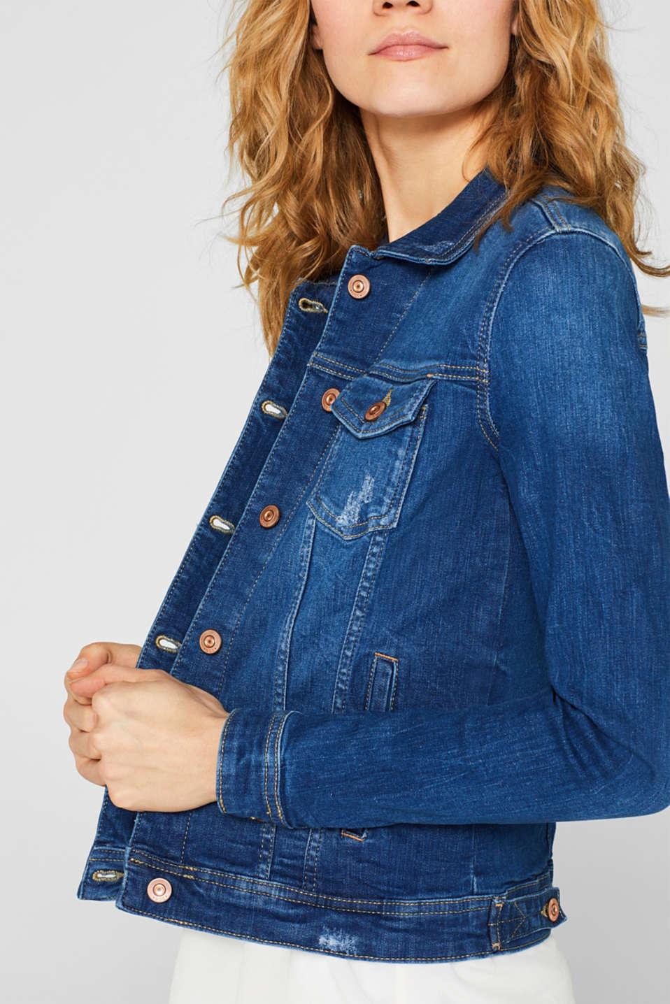 Jackets indoor denim, BLUE MEDIUM WASH, detail image number 5