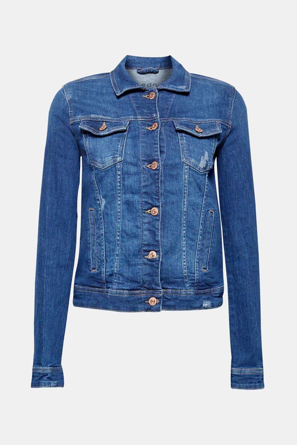 Jackets indoor denim, BLUE MEDIUM WASH, detail image number 6