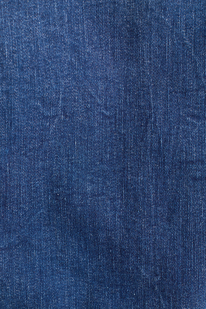 Denim jacket in a washed look, BLUE MEDIUM WASHED, detail image number 4