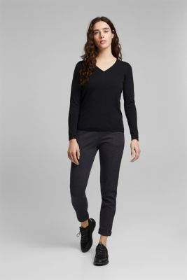 Jumper with organic cotton, BLACK, detail