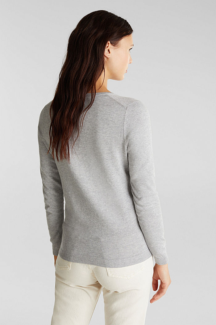 Jumper with organic cotton, LIGHT GREY, detail image number 3