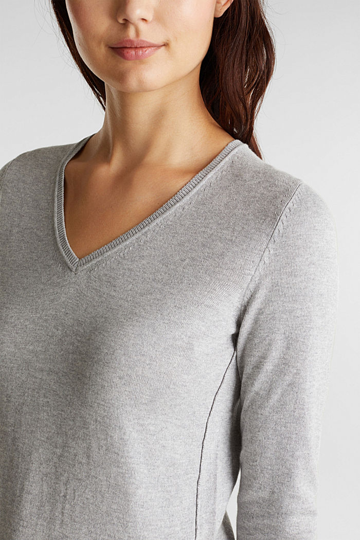 Jumper with organic cotton, LIGHT GREY, detail image number 2