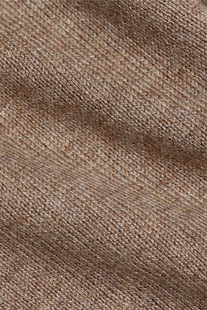 Pullover mit Bio-Baumwolle, TAUPE, detail image number 4