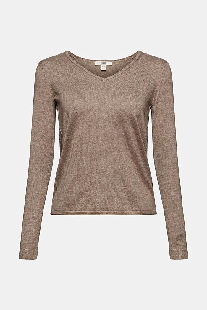 Pullover mit Bio-Baumwolle, TAUPE, detail image number 5