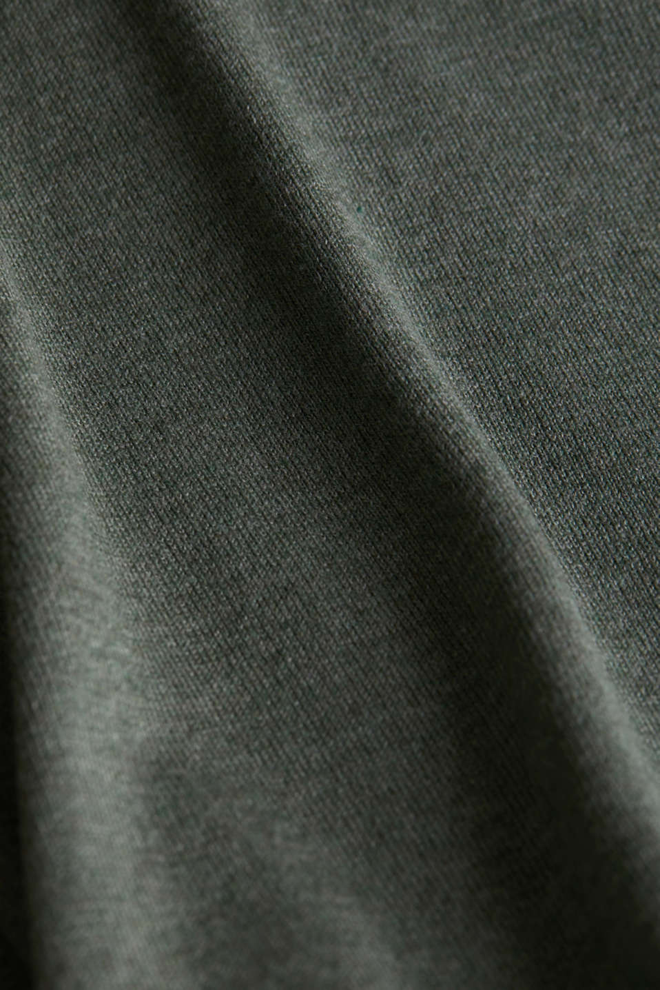 Jumper with organic cotton, KHAKI GREEN 5, detail image number 4