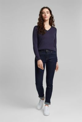 Jumper with organic cotton, NAVY, detail