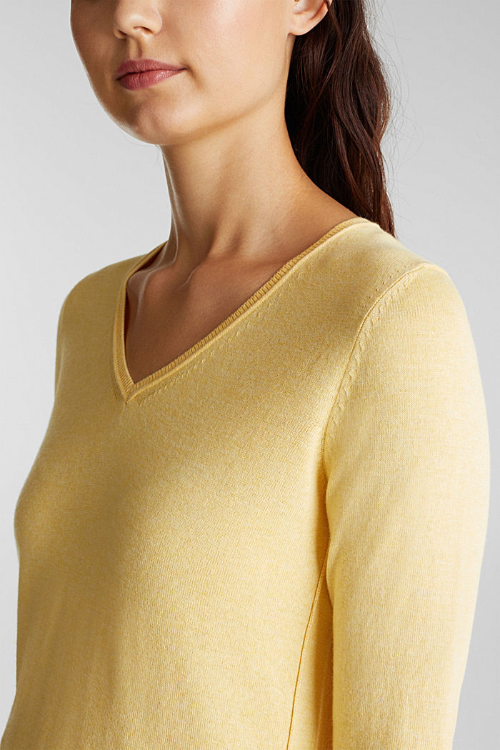 Jumper with organic cotton, YELLOW, detail image number 2