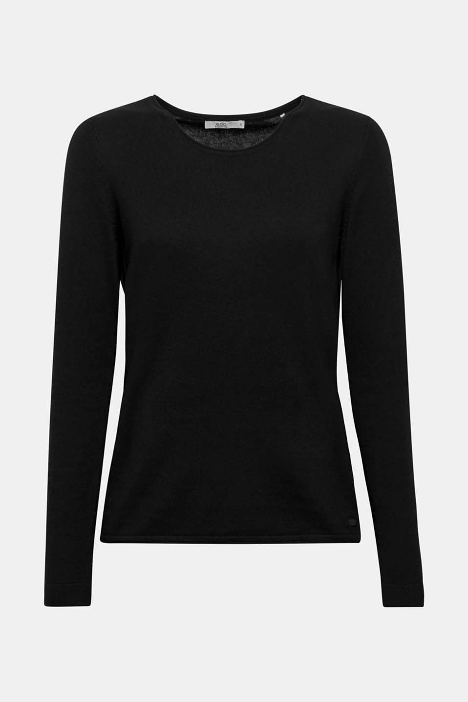 Jumper with organic cotton, BLACK, detail image number 5