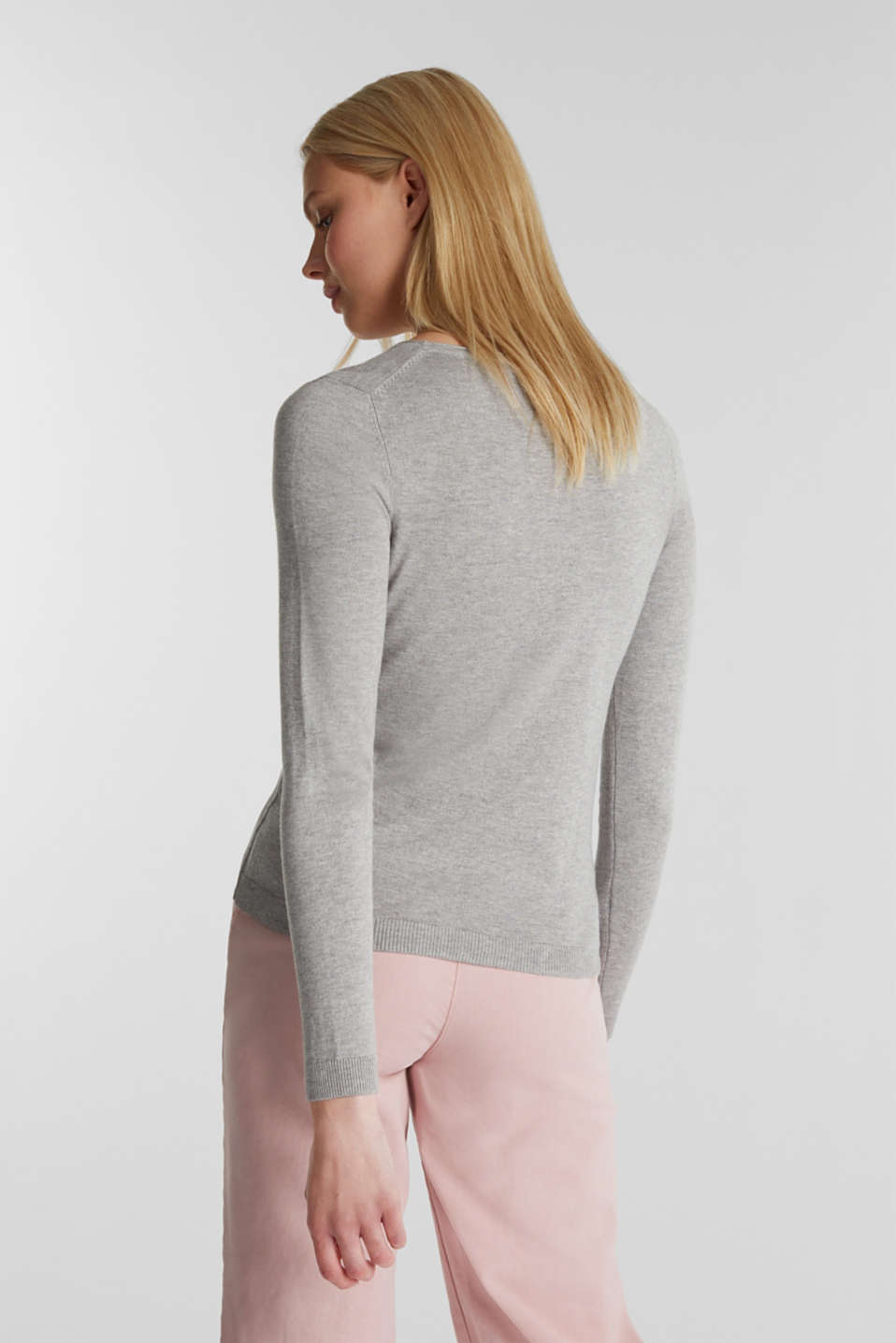 Jumper with organic cotton, LIGHT GREY 5, detail image number 2