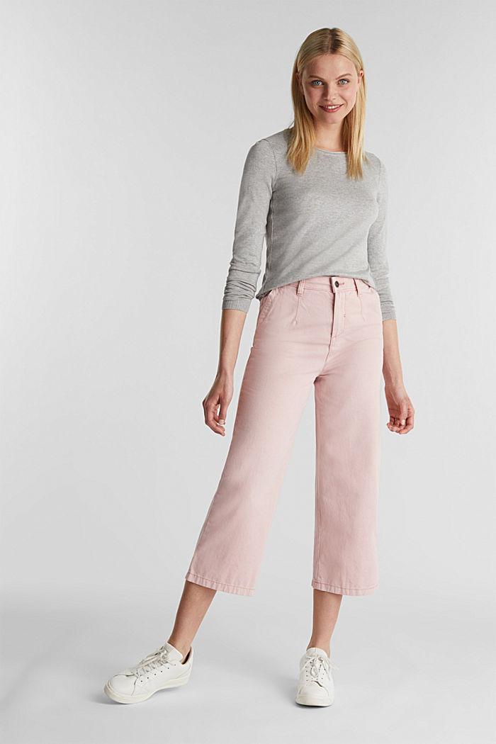 Pullover mit Organic Cotton, LIGHT GREY, detail image number 1
