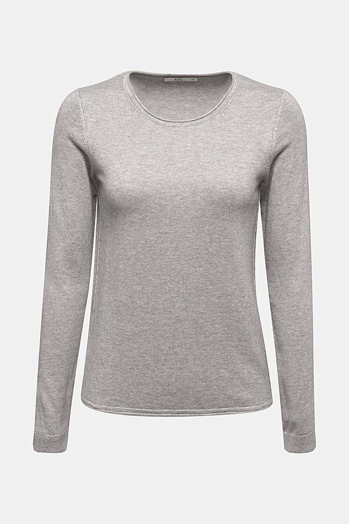 Pullover mit Organic Cotton, LIGHT GREY, detail image number 5