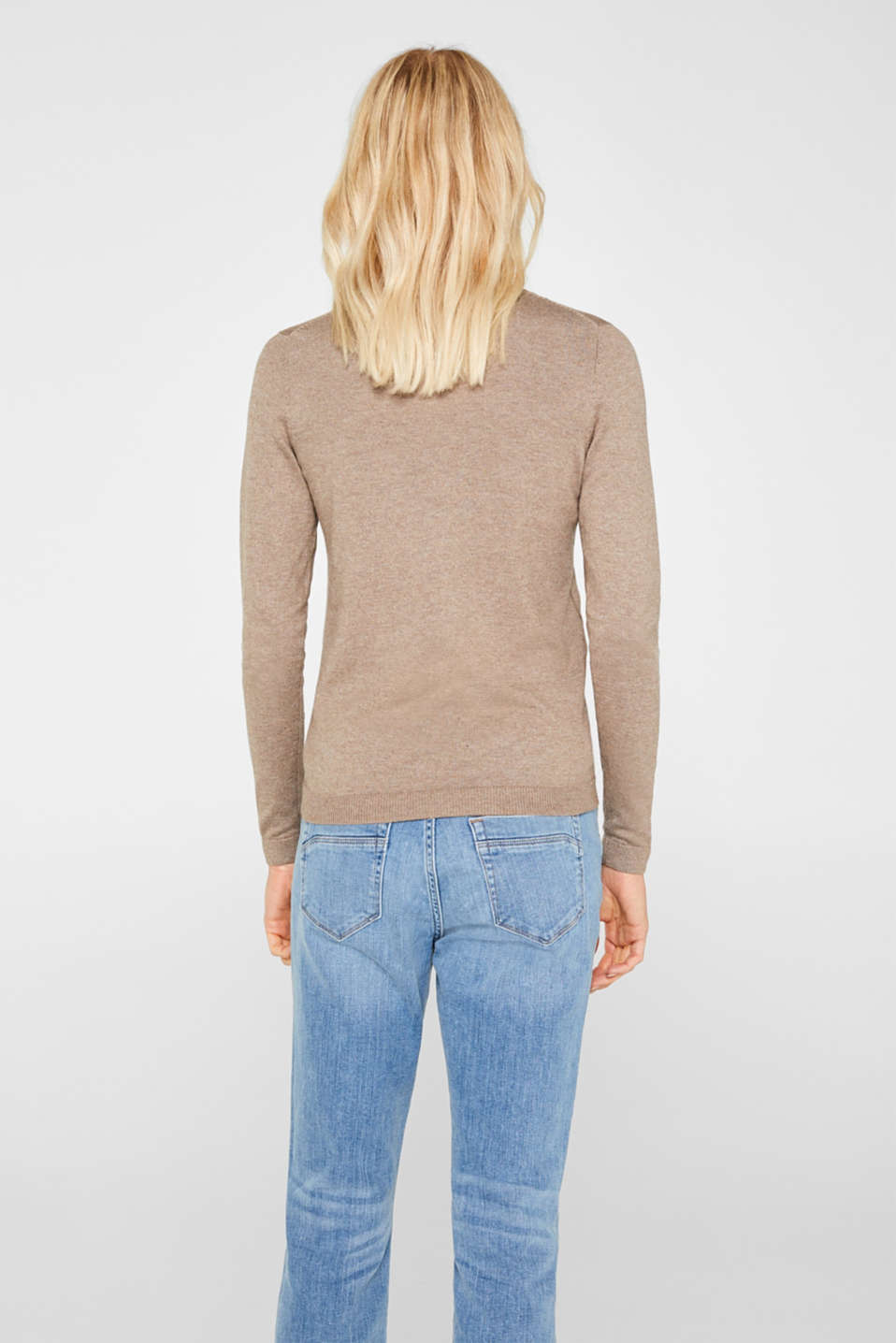 Jumper with organic cotton, TAUPE 5, detail image number 3