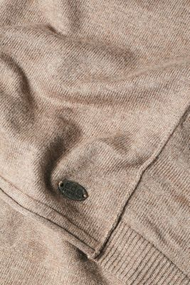 Jumper with organic cotton, TAUPE 5, detail