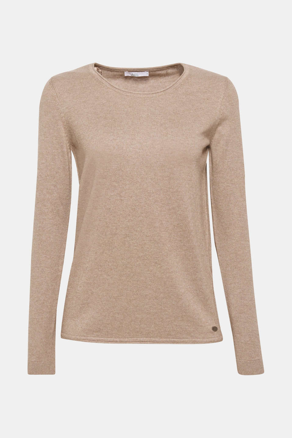 Jumper with organic cotton, TAUPE 5, detail image number 7