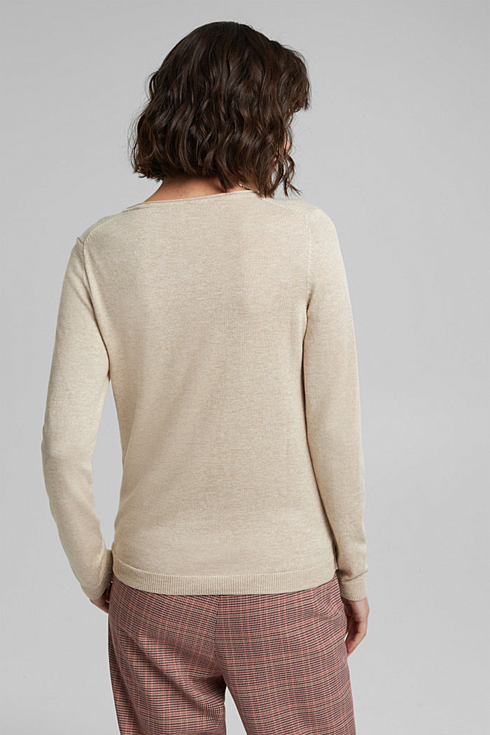 Jumper with organic cotton, SAND, detail image number 3
