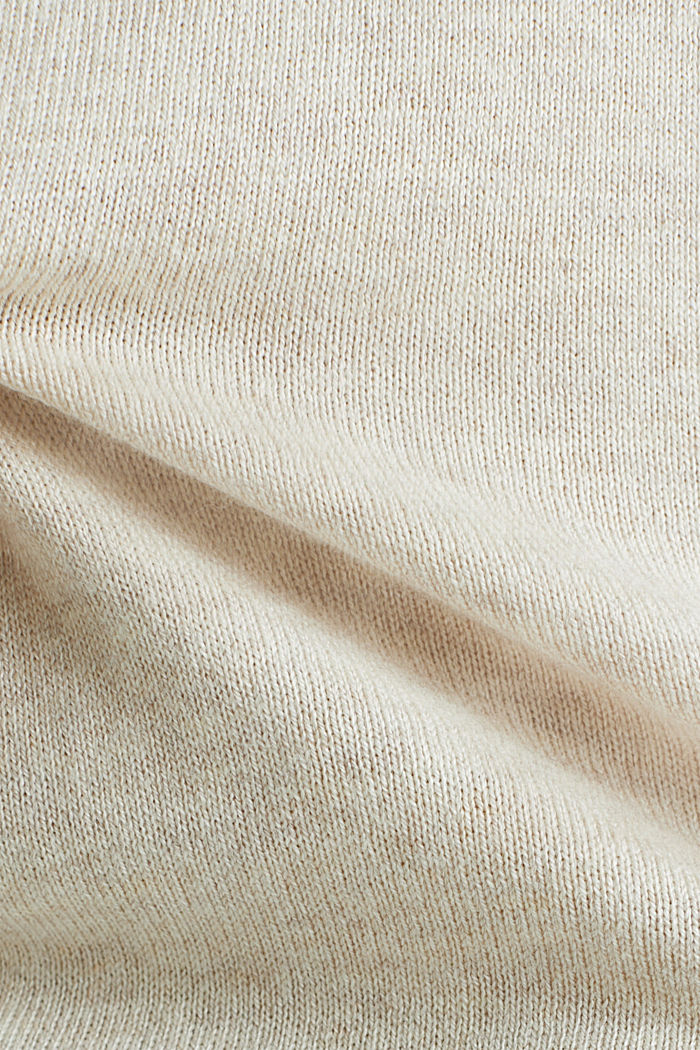 Jumper with organic cotton, SAND, detail image number 4