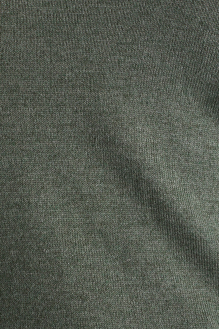 Jumper with organic cotton, KHAKI GREEN, detail image number 3