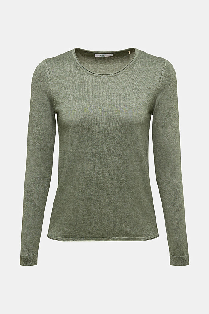 Jumper with organic cotton, KHAKI GREEN, detail image number 5