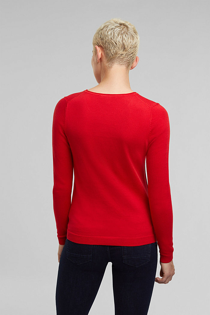 Jumper with organic cotton, RED, detail image number 3