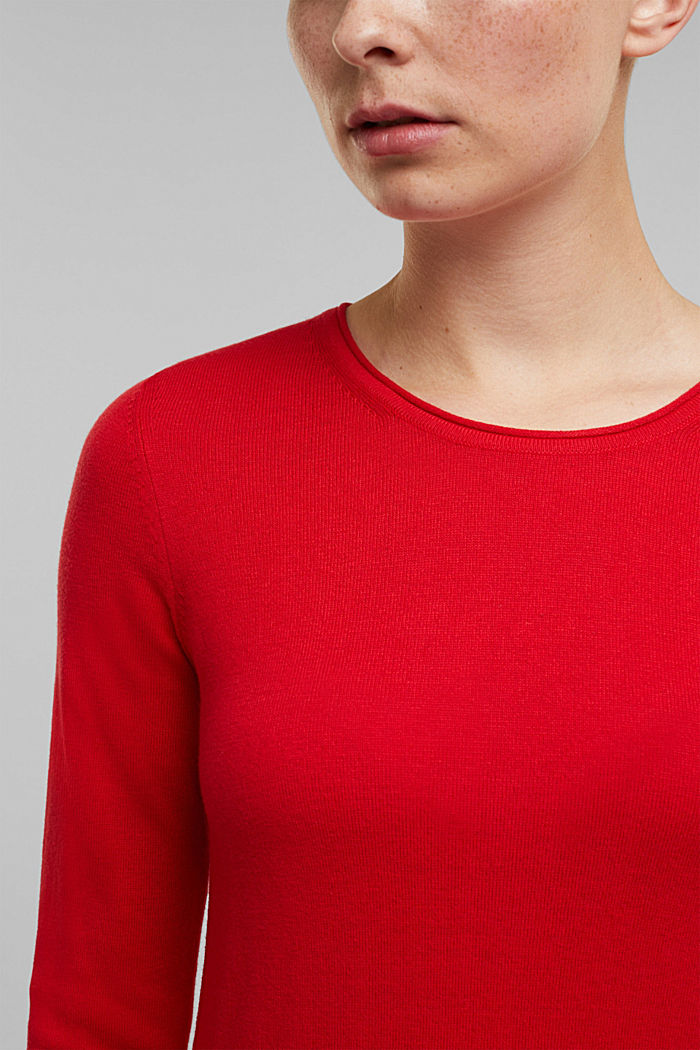 Jumper with organic cotton, RED, detail image number 2