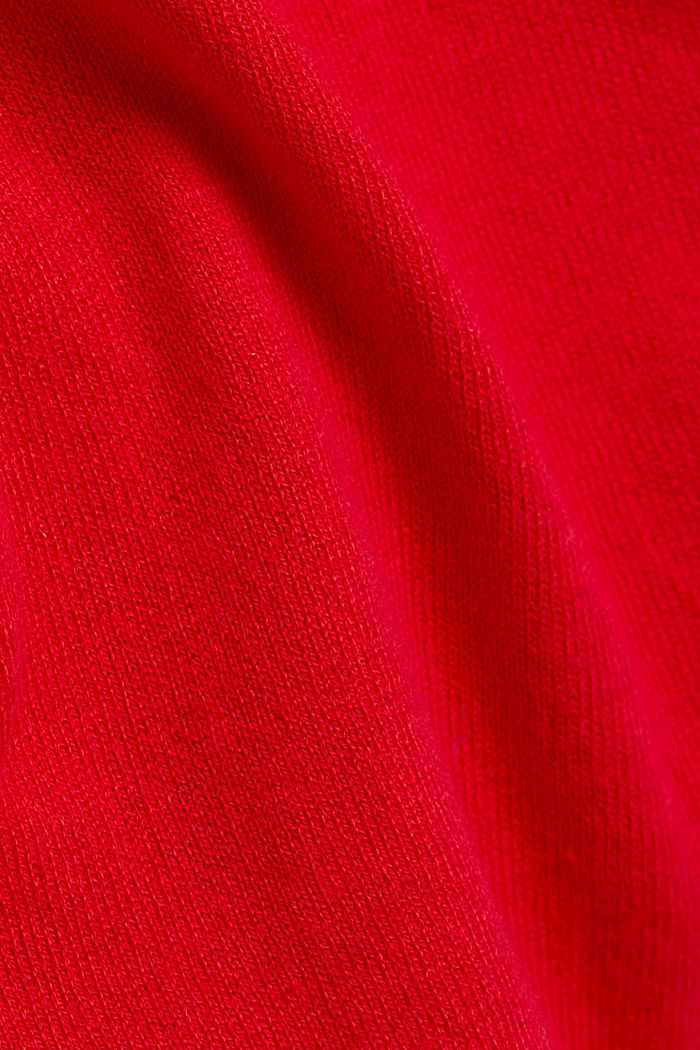 Jumper with organic cotton, RED, detail image number 4