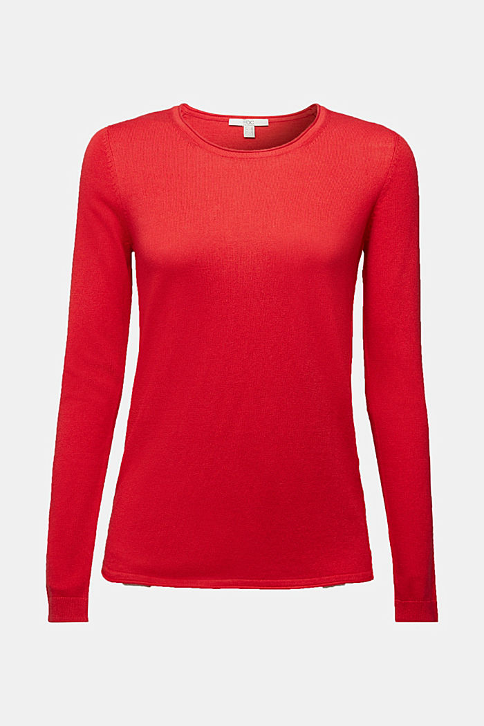 Jumper with organic cotton, RED, detail image number 6