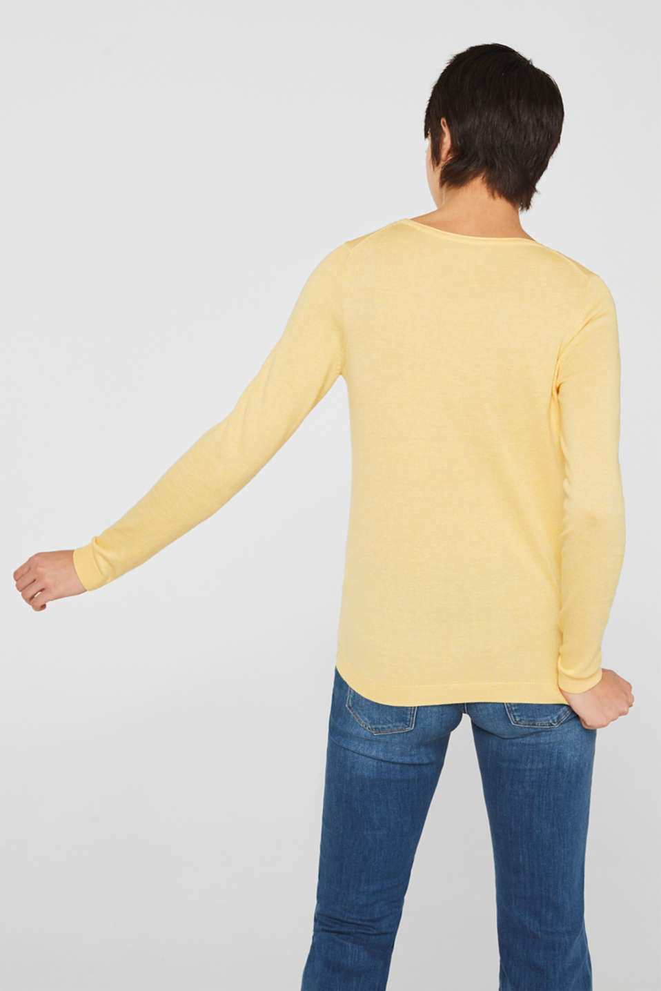 Jumper with organic cotton, YELLOW, detail image number 3