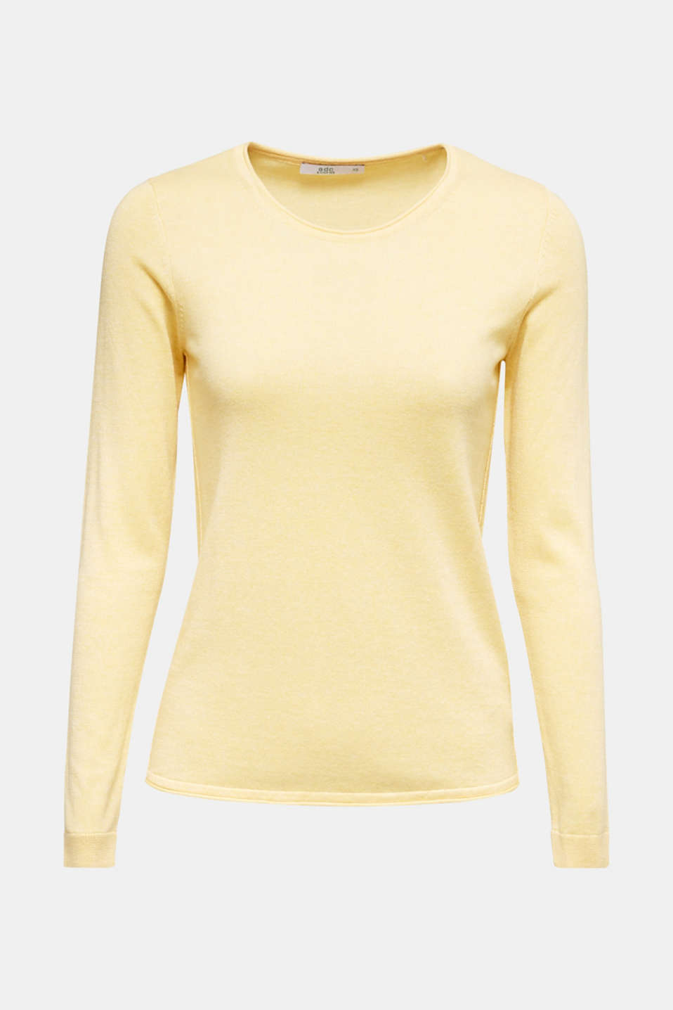 Jumper with organic cotton, YELLOW, detail image number 6
