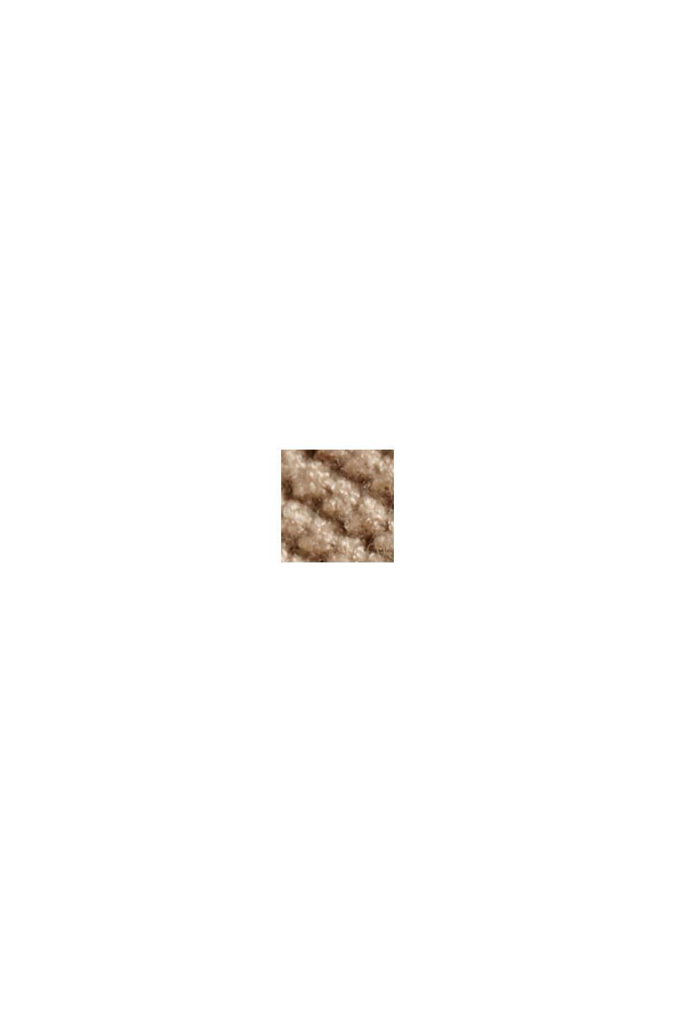 Pulovr se špičatým výstřihem, z perličkového úpletu, BEIGE, swatch