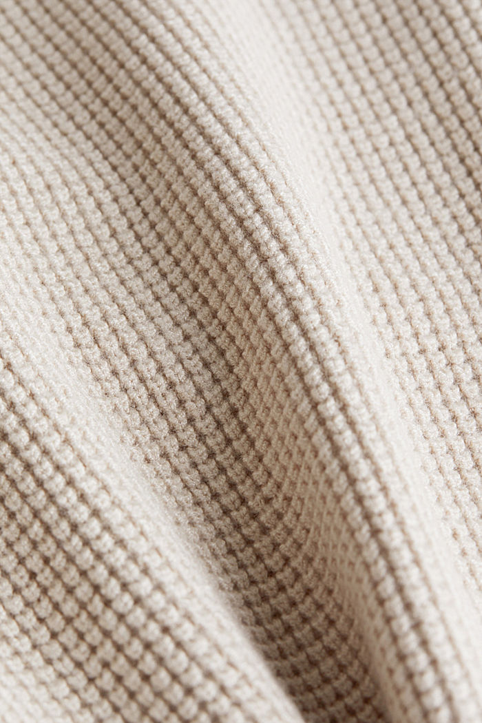 Pullover mit Reiskorn-Struktur, SAND, detail image number 4