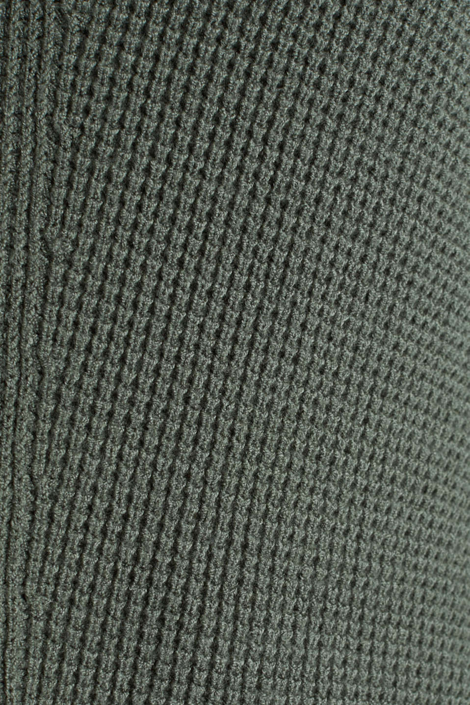 Jumper with a rice grain texture, KHAKI GREEN, detail image number 4