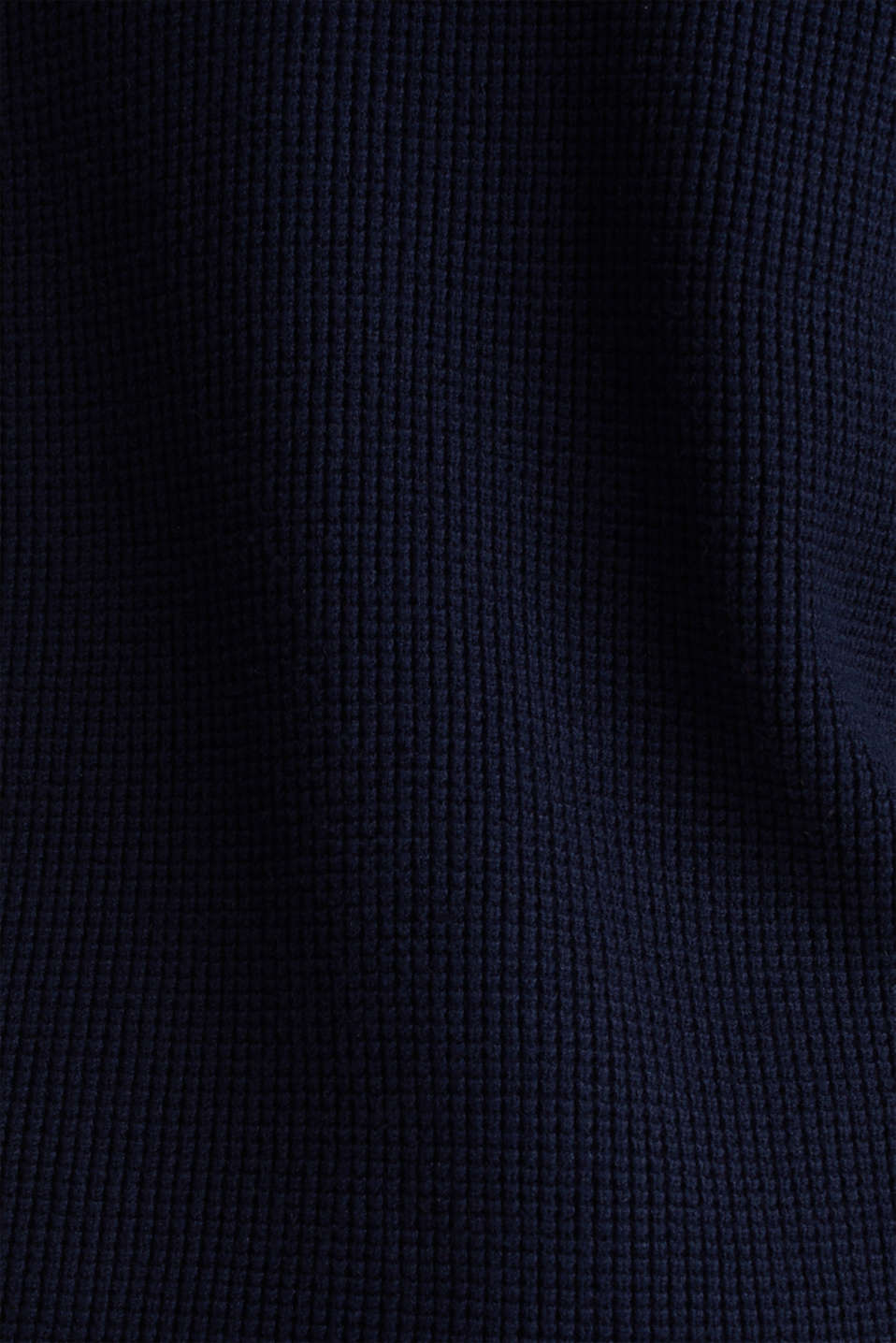 Jumper with a rice grain texture, NAVY, detail image number 3
