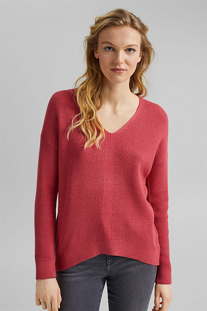 Pullover mit Reiskorn-Struktur, BLUSH, detail image number 0