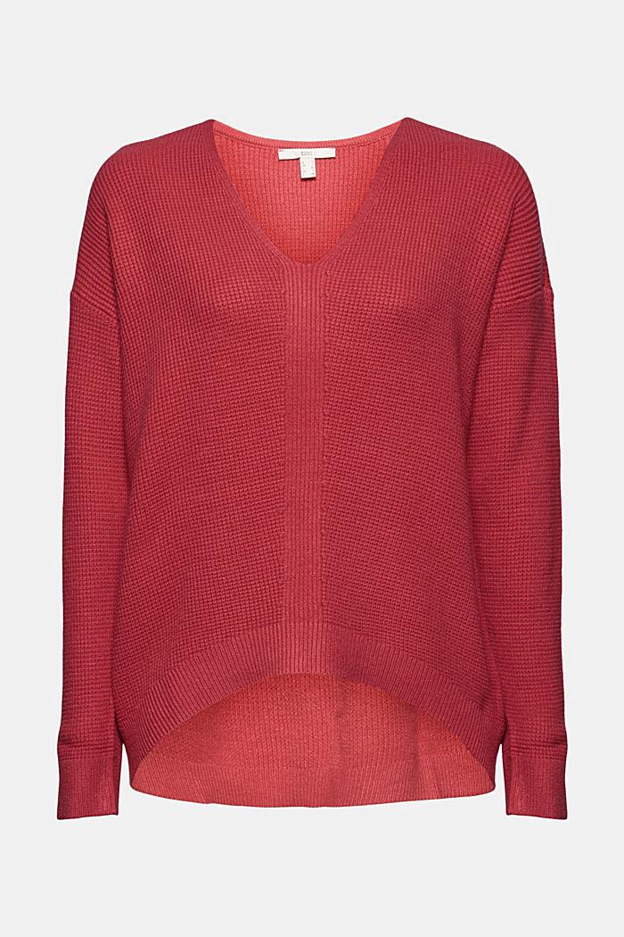 Pullover mit Reiskorn-Struktur, BLUSH, detail image number 6